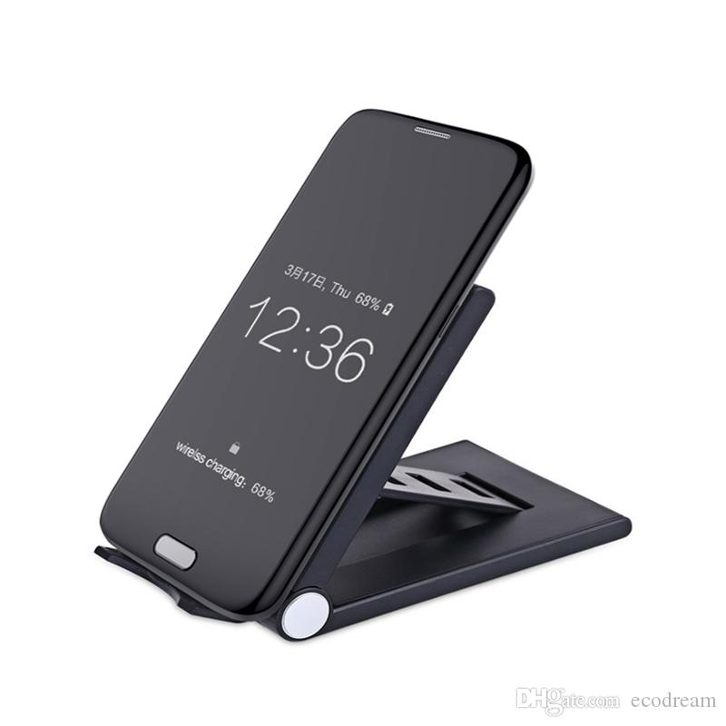 5V 1A Foldable qi wireless charger stand portable Anti-slip mobile charger