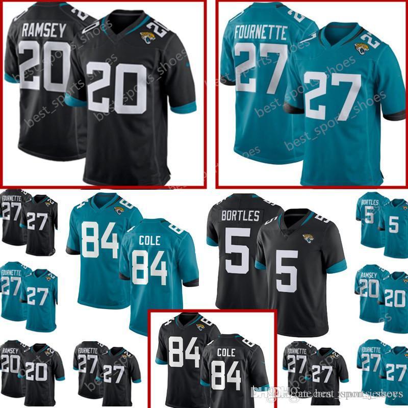 save off 139eb fb683 27 Leonard Fournette 20 Jalen Ramsey New Jacksonville Jaguars Jersey Men's  5 Blake Bortles 84 Keelan Cole stitched Football Jerseys