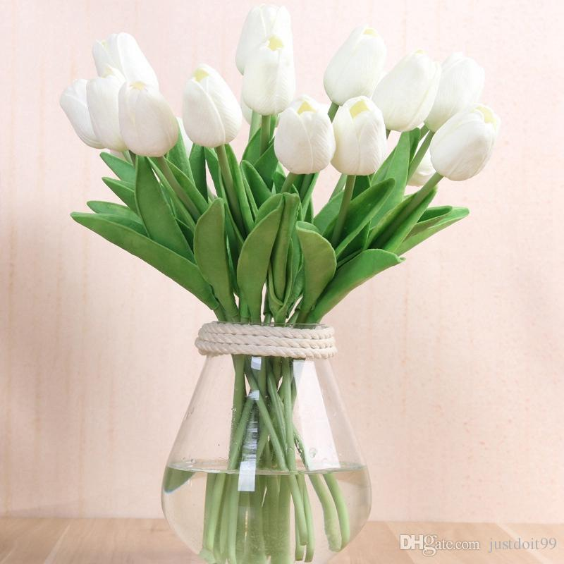 2018 Tulip Artificial Flowers Party Wedding Decorations Silk Flowers