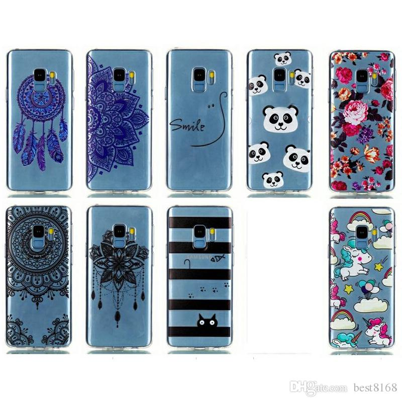 Soft TPU Case For Nokia 7 Plus For Huawei V10 Mate 10 Lite Honor 9 8 P20 P10 P9 Flower Lace Dreamcatcher Butterfly Unicorn Cartoon Cover