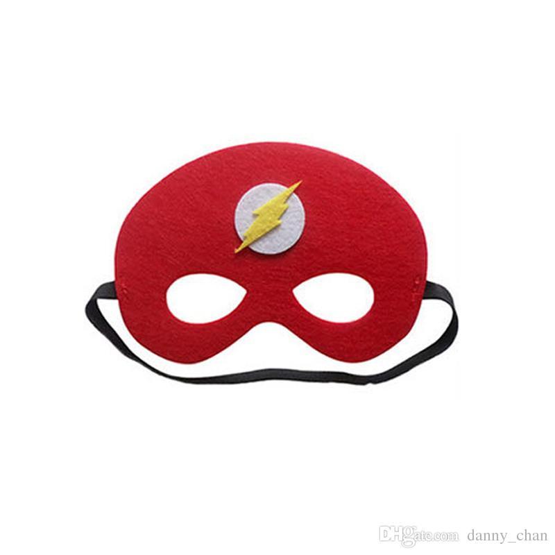 65 styles New Design Children superhero mask halloween cosplay half masks superman spiderman captain america Felt Masks for Christmas party