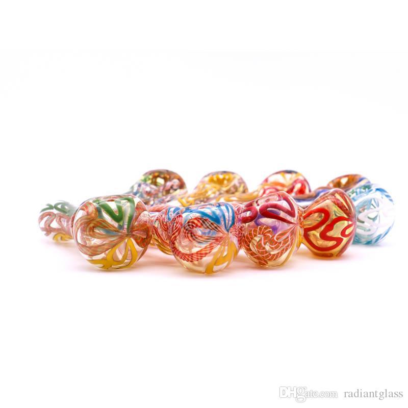 Glaspfeife Herstellung mundgeblasenem und schön in Handarbeit, 4