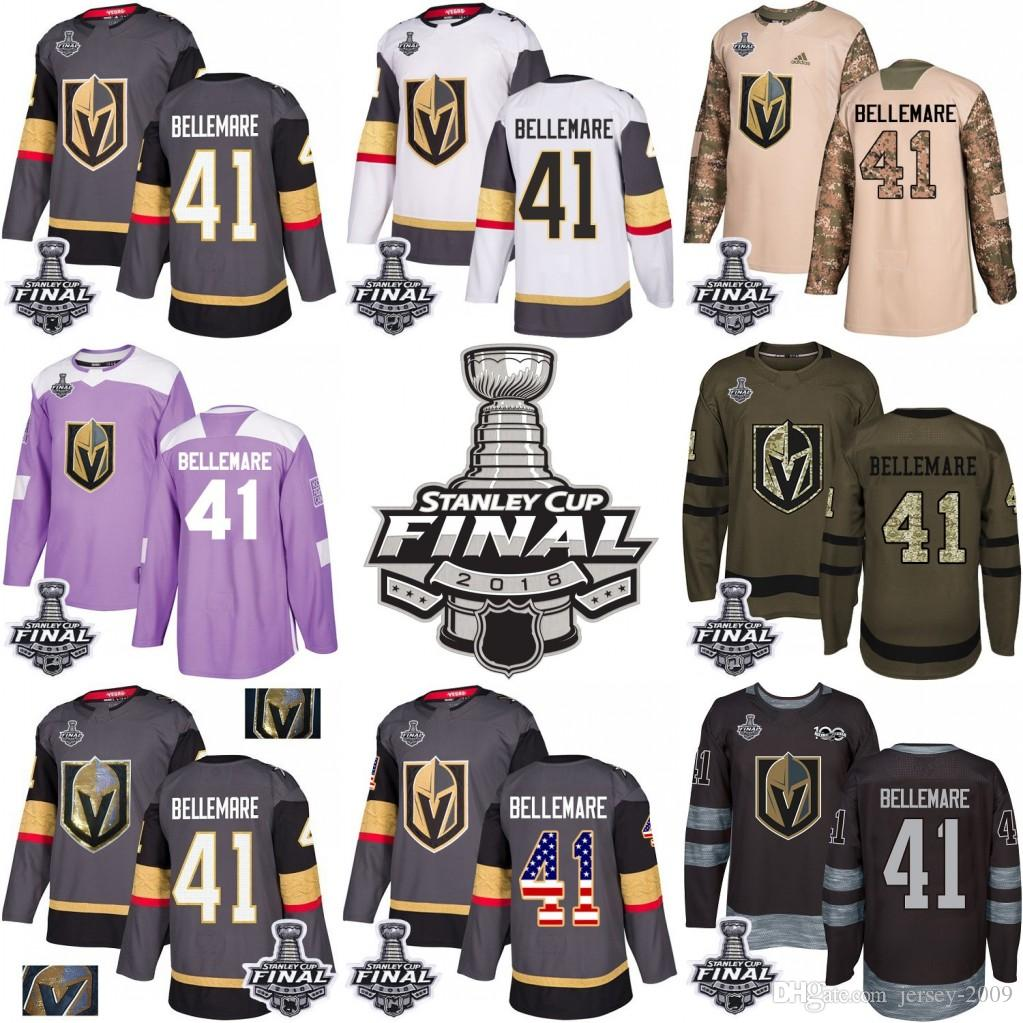 45ce2bc7f 2018 Stanley Cup 41 Pierre-Edouard Bellemare Vegas Golden Knights ...