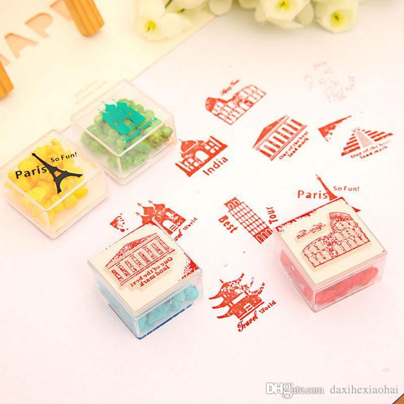 2019 Famous Buildings Plastic Rubber Stamp For Kids DIY Handmade Scrapbook Photo Album Stamps ArtsCrafts ChildrenS Toys Gifts From Daxihexiaohai