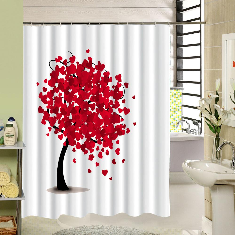 2019 Simple Style Painting Tree Bathroom Accessories Waterproof Shower Curtains Acceptable Personalized Custom From Dracaenor 3542