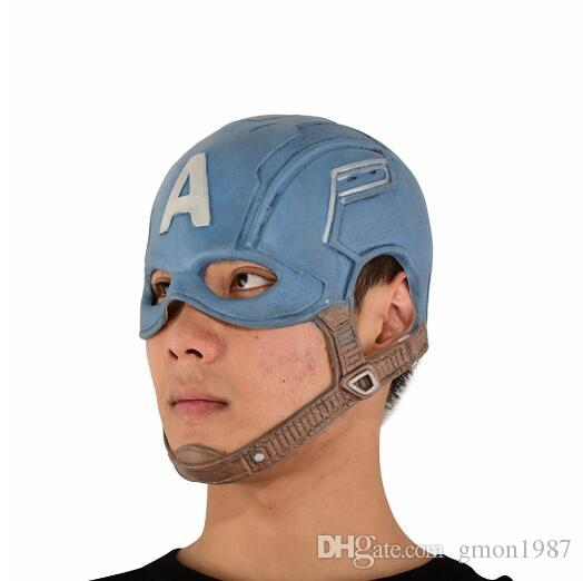Surprised Captain America Masks Movie Cosplay Costume Props Halloween Superhero Latex Mask DC Collectible Toys party mask