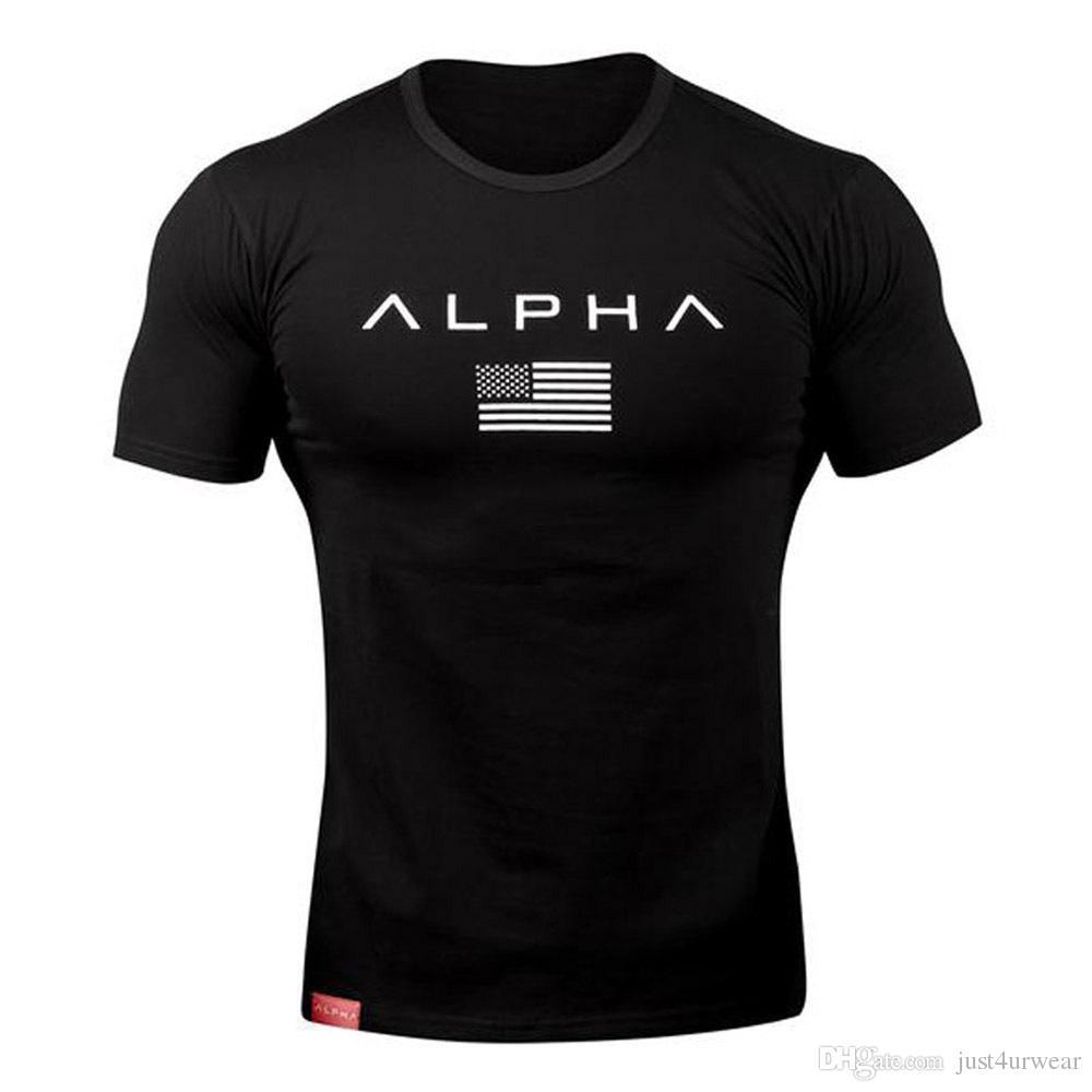 Tee-shirts d'été pour hommes Lettres d'impression à manches courtes LPH Tees de fitness Muscle Slim Fit T-shirts