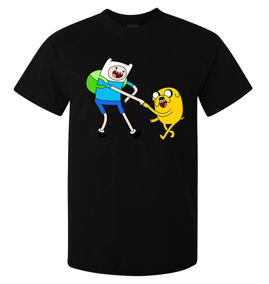 e4aae9c0f451 Acquista Adventure Time Finn E Maglietta Jake Fist Bump Art Uomo Donna  Disponibile Nera A $11.01 Dal Flairmerchan | DHgate.Com
