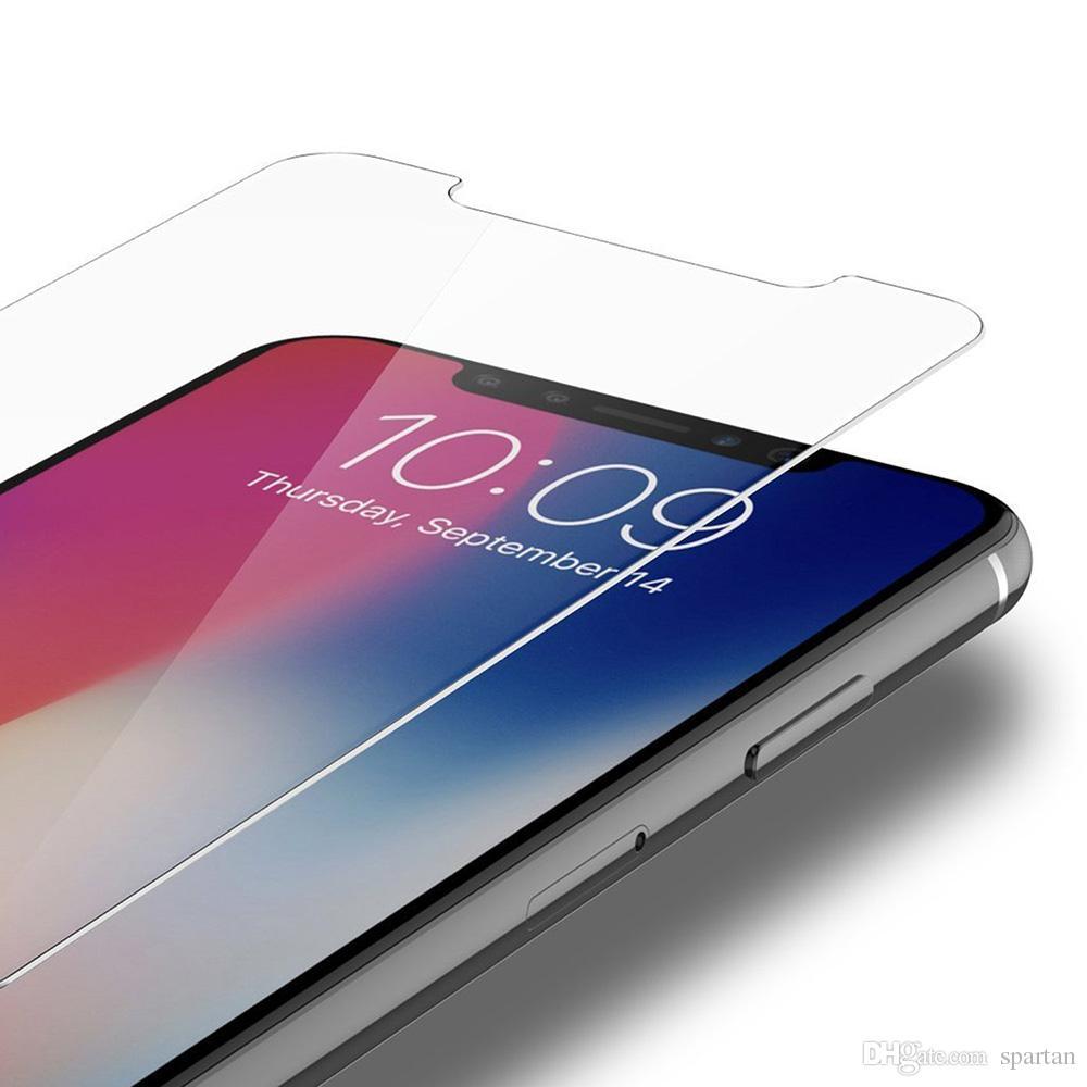 Para Iphone 11 Pro Max Max XS XR 7 8 Plus de Samsung A20 A10E LG Stylo 5 K40 vidrio templado protector de la pantalla 9H 0.33mm 2.5D con el paquete de papel