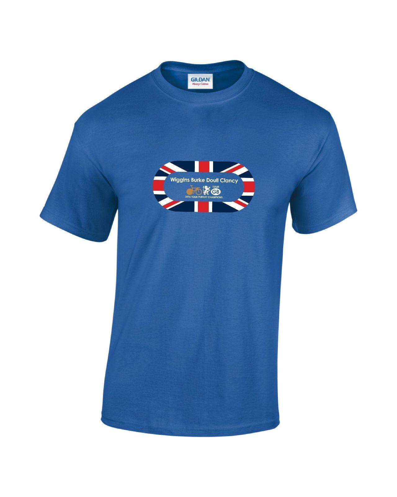 Details zu Team GB Pursuit Gold 2016 Track Cycling Mens Printed T-Shirt Funny free shipping Unisex Casual gift