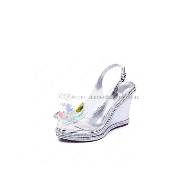 Woman shoes flower charms high-heel pumps flats accessories crystal diamond flats shoe clips clog Fashion shoes bag clip