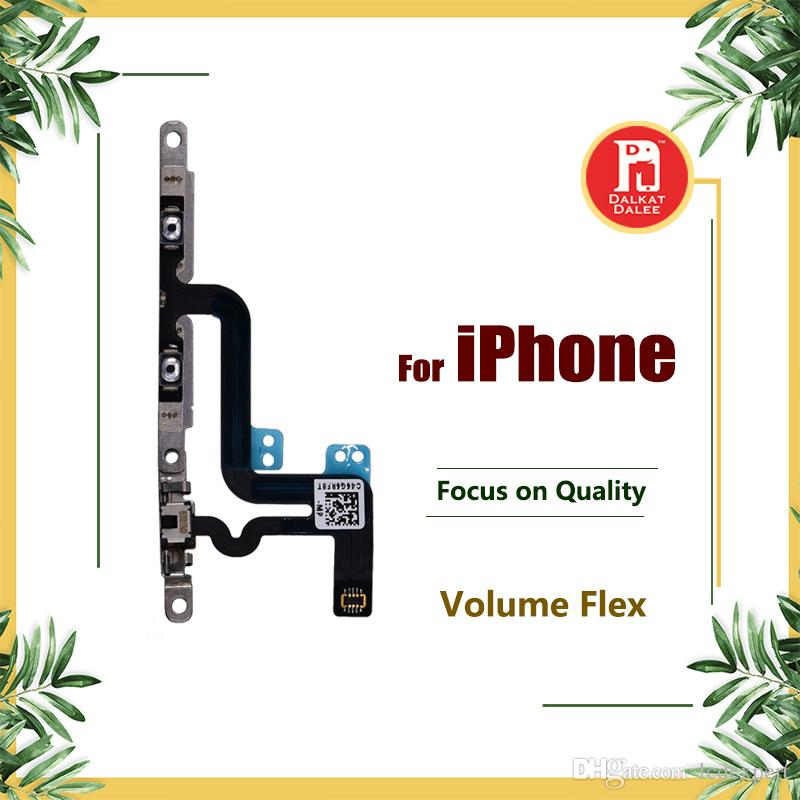 Volume Button Control Connector Flex Cable + Metal Plate For iPhone 6 6 Plus 6s PLUS 4.7 5.5 Mute Lock Switch Mic