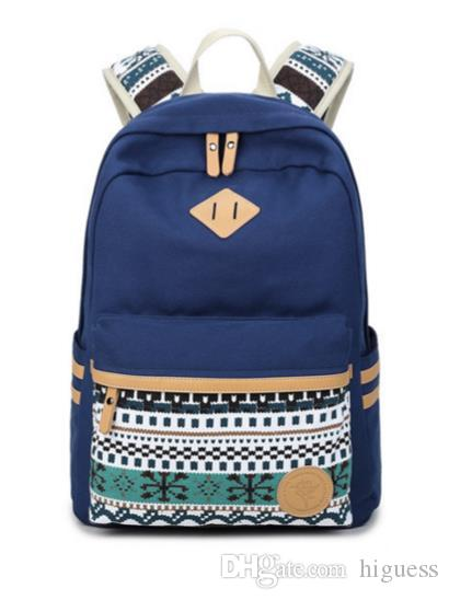 23111acc2d04 Brand Designer New Female Canvas Printing College Canvas Backpacks Large School  Bags For Teenagers Girls Travel Laptop Backbag Rucksack Gre Swiss Army ...