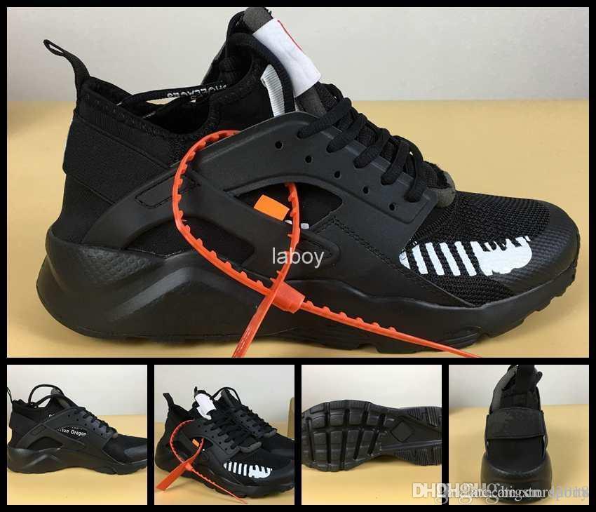new arrival 06423 89155 Compre 2018 Air Huarache 4 Ultra Running Zapatos Para Hombres Mujeres, Triple  Negro Blanco Mens Sneakers Huaraches Womens Huraches Off Zapatos Deportivos  36 ...