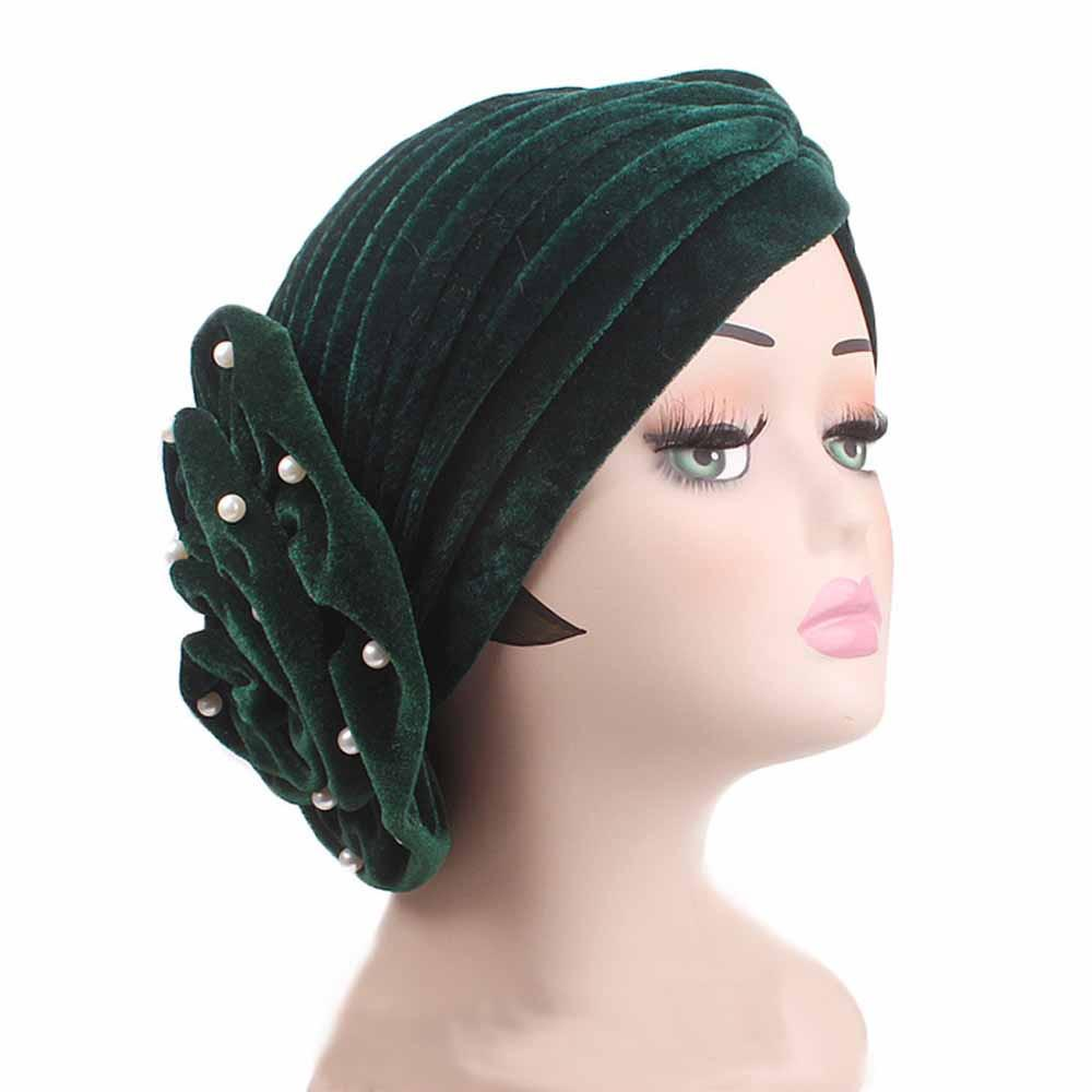 33f88bc01 2018 new Summer Women Solid Muslim Hat Stretch Turban Hat Head Wrap Cap  Ladies Apparel Accessories