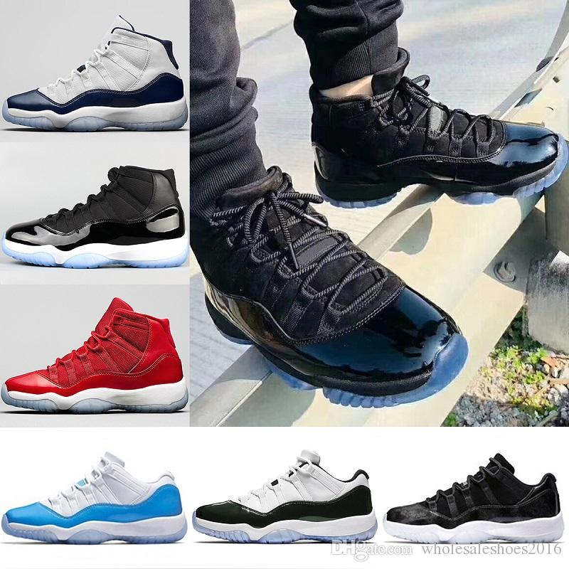 newest 92d2c 19a0c 2019 2018 New Prom Night Mens 11 11s Basketball Shoes Iridescent UNC Gym  Red Space Jam 45 Black Out Concord Sports Sneakers Size 36 47 From ...
