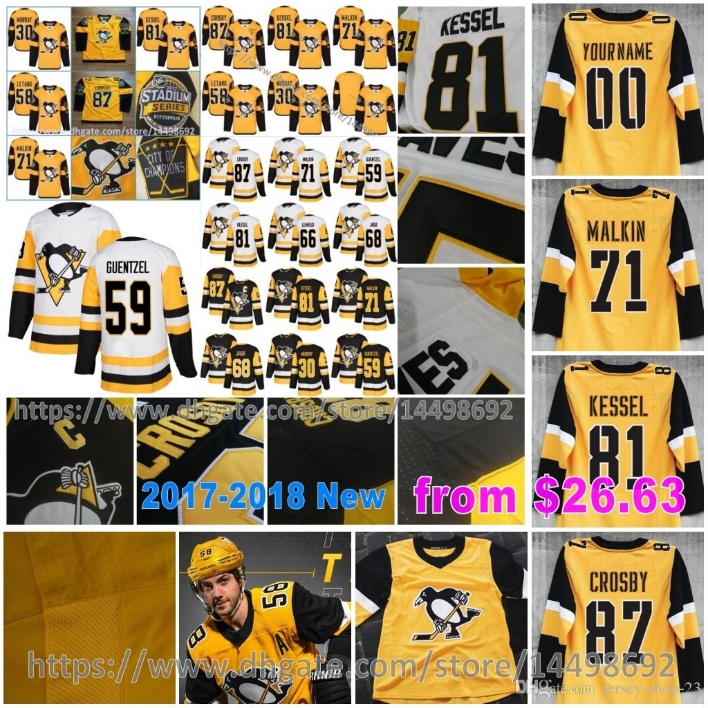 2be506953 Pittsburgh Penguins Third Jake Guentzel Sidney Crosby Phil Kessel ...