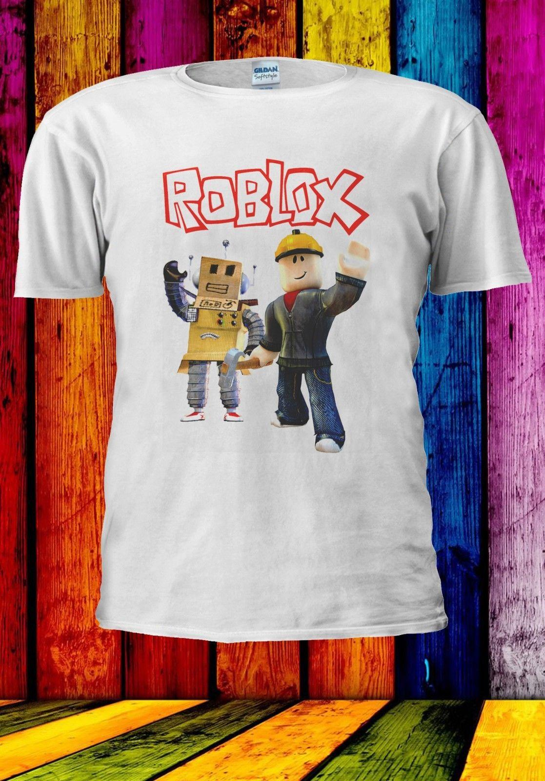 124f691ee Roblox Builderman & Box Robot Online Game Men Women Unisex T Shirt 901  Funny Unisex Casual Gift Make Your Own Tee Shirt Design Crazy T Shirt  Design From ...