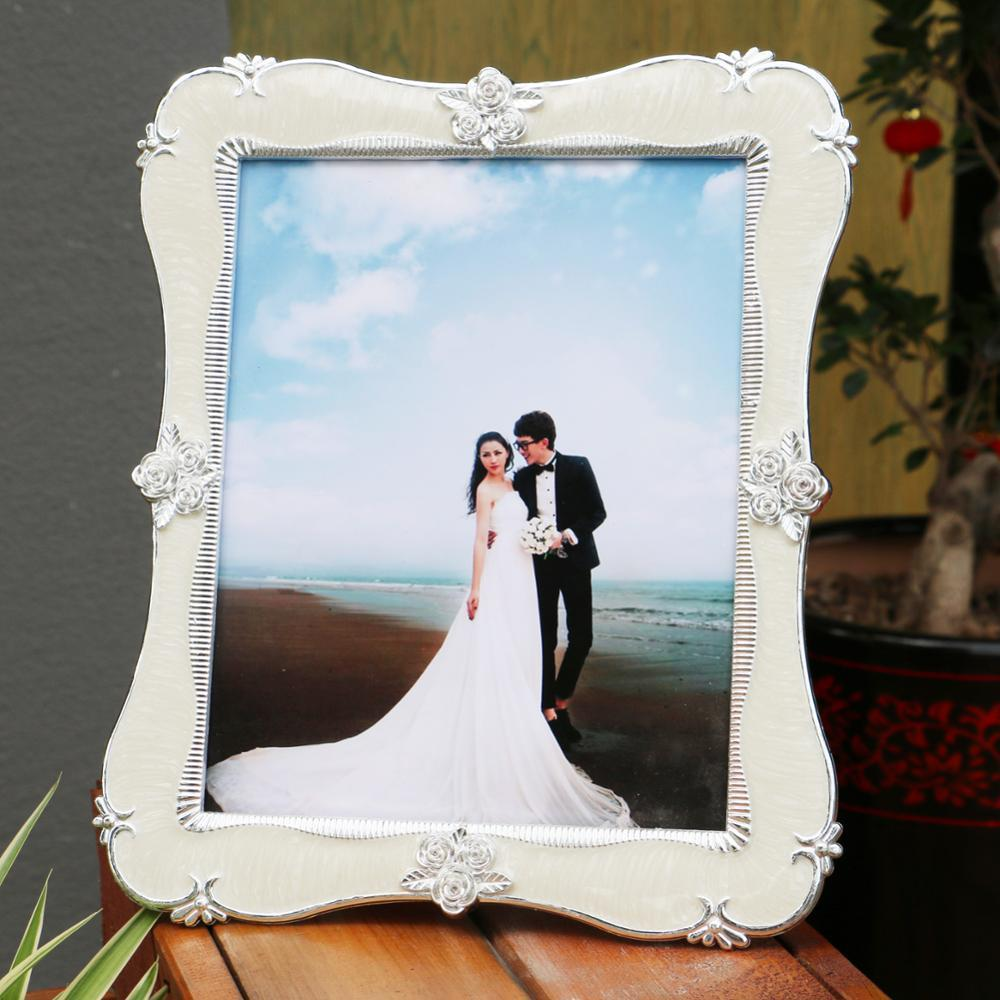 Crystal Photo Frame Rectangle White Roses Dotted The Photo Frame ...