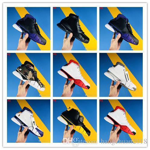 best authentic a64d4 14731 Compre 2018 Best New Kobe 1 Protro ZK1 Inicio Negro Diseñador Blanco  Baloncesto Zapatos De Alta Calidad KB Mens Zapatillas Cuero Deportes  Sneakers Tamaño 7 ...