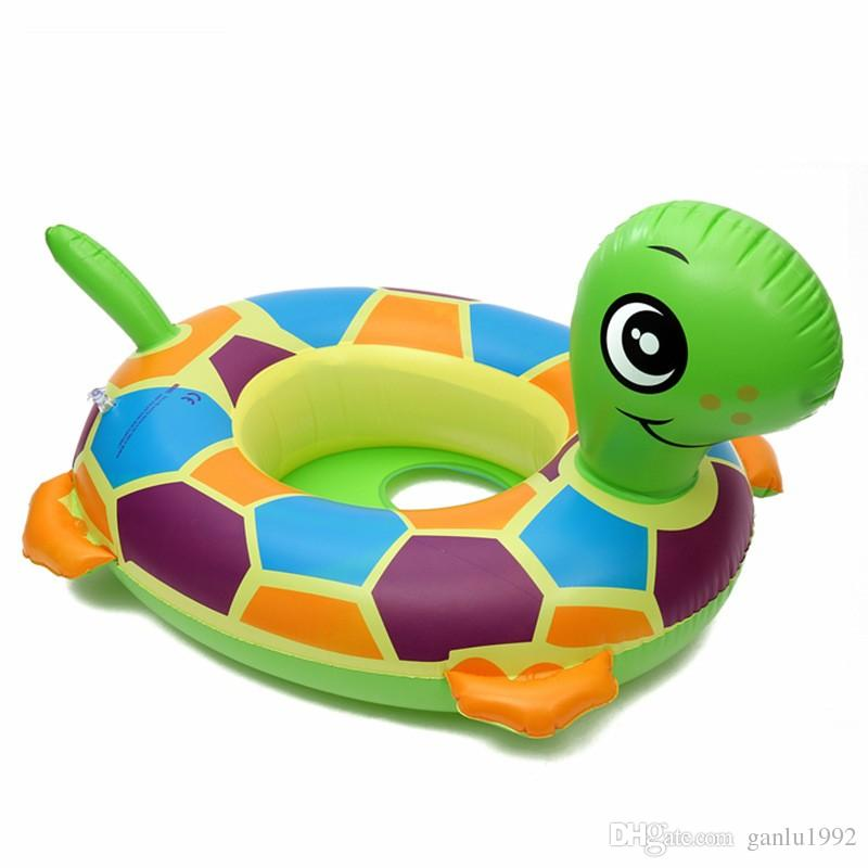 Animals Inflatable Float PVC Swimming Seat Ring With Handle Children Lifestroke Circle Durk Elephant Sheep Tortoise 6lx W