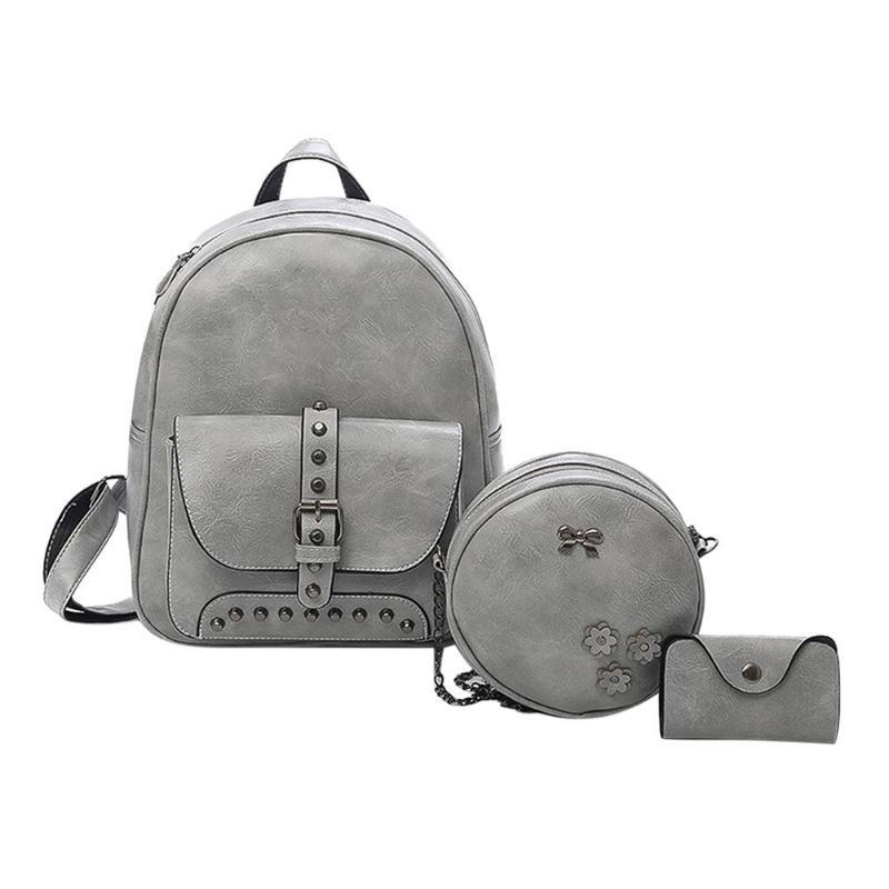 f680ab1031cc Rivet Backpack Women Fashion Brand School Bags for Teenager Girls ...
