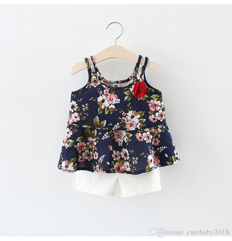 8d4bb5f77e48 2019 Designer Baby Girl Clothes Clothing Sets 2018 New Style Summer Flower  Kids Baby Girls Dress Baby Girl Clothes For Newborns Vestido De Bebe From  ...