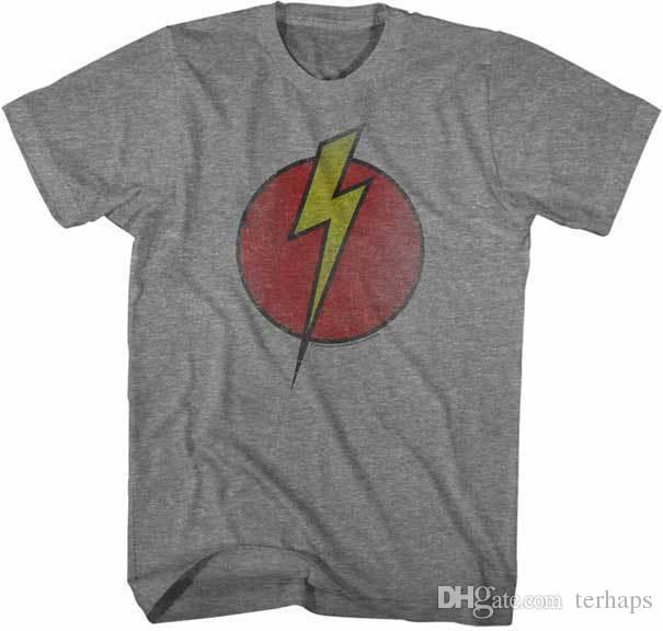 902bd13a8caaf3 Flash Gordon Lightning Bolt Adult T Shirt Great Classic Cartoon Movie Funny T  Shirts For Sale Awesome T Shirt Design From Terhaps, $10.89| DHgate.Com