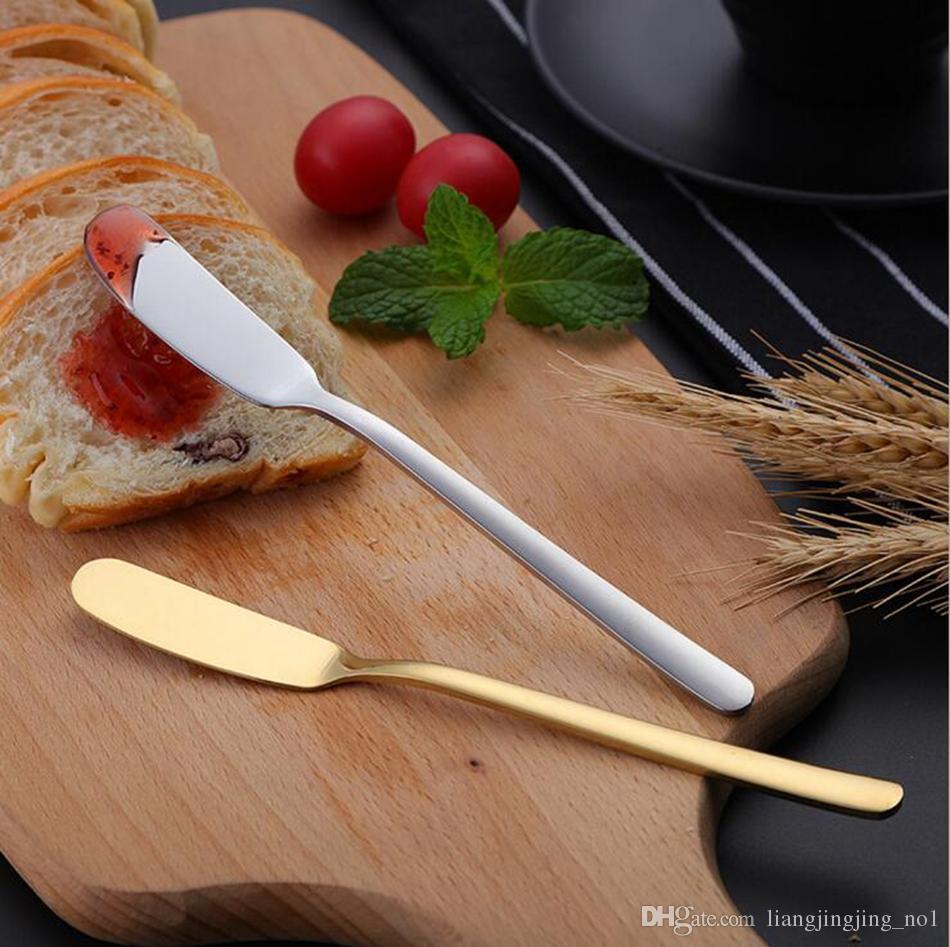 Acero inoxidable Western Cake Espátula Cuchillo de Mantequilla Para Pastel de Queso Pizza Pastelería Servidor Jam Spreader Desayuno Herramienta OOA4176