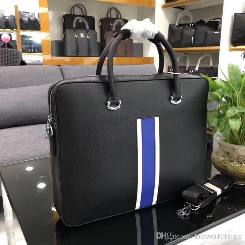 4642cb0a9f03 2018 Famous Brand Designer Briefcase Simple Mens Leather Briefcase Solid  Large Business Man Bag Laptop Bag Messenger Bag For Men Messenger Bags For  Men ...