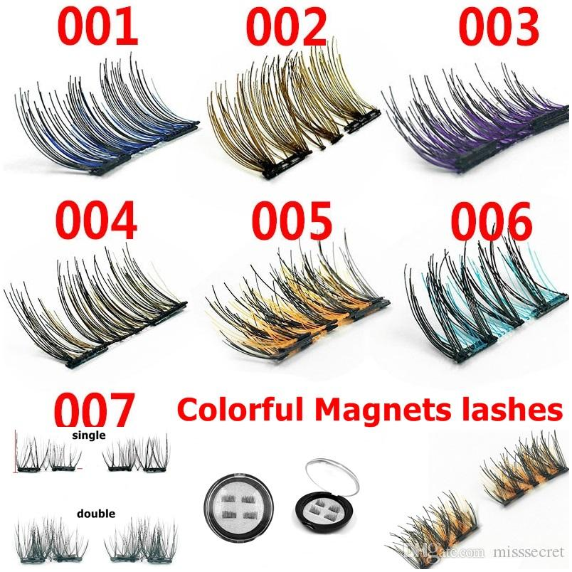 2e10fa98895 Colorful Magnetic Eye Lashes 3D Mink Reusable False Magnet Eyelashes  Extension With 2 Magnets Eyelash Extensions Magnetic Eyelashes Makeup  Eyelash Tinting ...