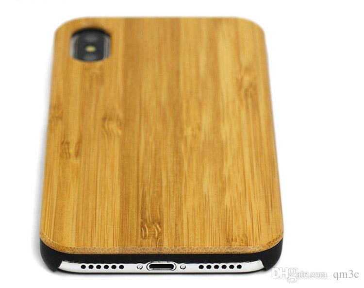 Holzkoffer Hersteller Preis für iphone Mobil 7 8 plus 10 X 6 6S 5 5S Qualitäts-Echtholz Bambus Plain-Kästen für Samsung Zubehör