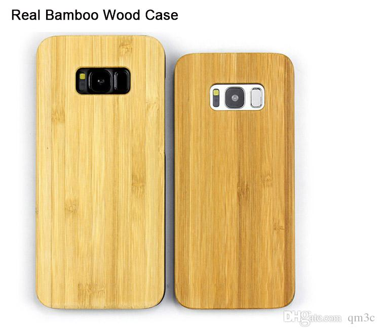 Cell Phone Wood Case Shockproof For iPhone X 6 6s 7 8 plus 5 Case Wooden Bamboo Mobile Phone Cases For Samsung Galaxy S9 S8 S10 Note 8 Cover
