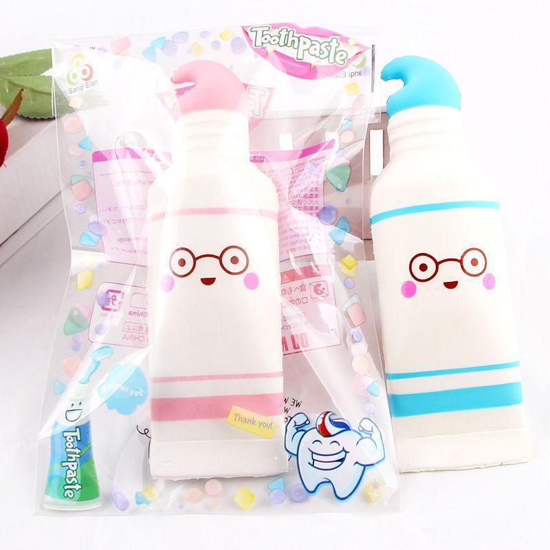 Creatividad squishies juguetes pu pasta de dientes de dibujos animados de algodón de azúcar blando lento blando aumento con paquete squeeze juguete regalo de niño perfumado envío gratis