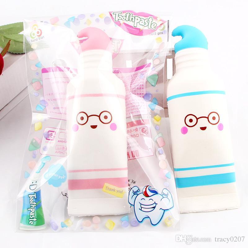 Criatividade squishies brinquedos pu Dos Desenhos Animados creme dental mole de algodão doce lento squishy subindo com pacote squeeze toy kid presente perfumado Navio Livre