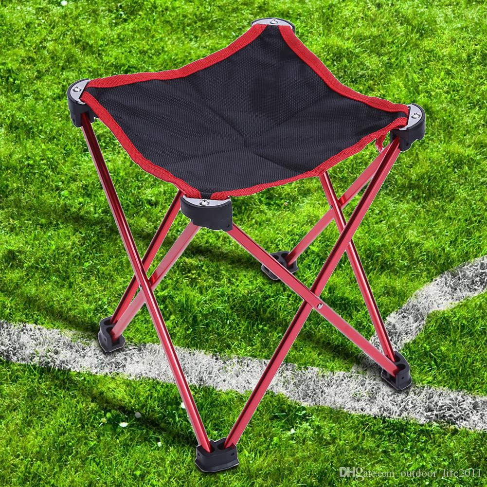 Half Finger Aluminum Alloy Folding Chair Seat Stool Fishing Picnic Camping Hiking BBQ Beach Backpack Fishing Chairs with Carry Bag EH-059