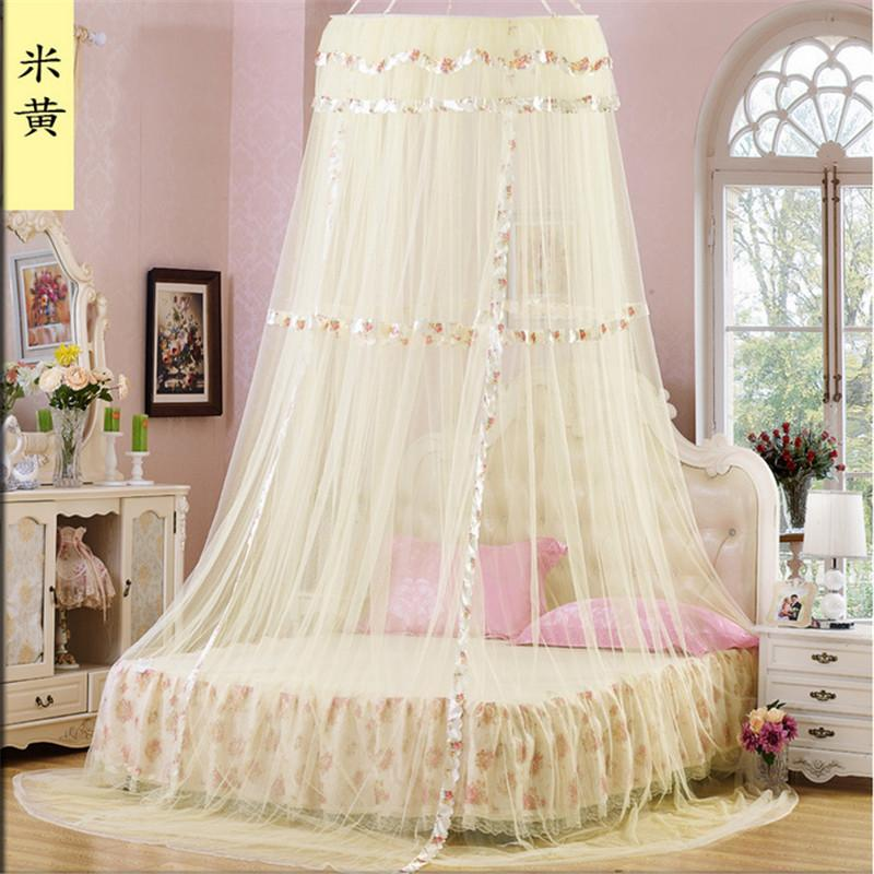 Wholesale-Mosquito Net 2017 Summer Style Romantic Round Lace Curtain Ceiling Palace Princess Canopy Netting Big Top Moustiquaire Sucker Palace Princess ... & Wholesale-Mosquito Net 2017 Summer Style Romantic Round Lace ...