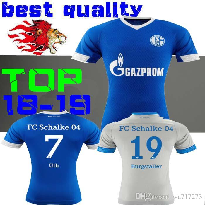97246b49d80bc 2018 2019 Schalke 04 Camiseta De Fútbol Local 18 19 Camisetas De Fútbol  Azul Visitante Uth Serdar Bentaled Burgstaller Caligiuri Camisetas De Fútbol  Naldo ...