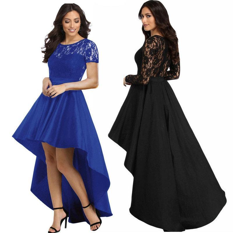 e1f4323b438c4 Satın Al Seksi Moda Kırlangıç Elbise Balo Parti Abiye Sıcak Yeni Bayan  Elbiseler Yuvarlak Yaka Dantel Maxi Elbise, $18.4 | DHgate.Com'da