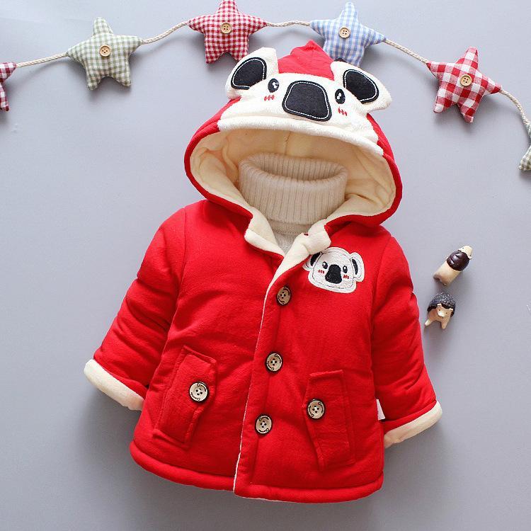 f8ad756d1 Baby Boy Clothes 2018 Winter Super Warm Wool Hooded Coat Cartoon ...