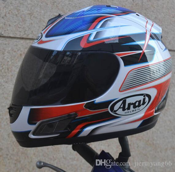 Free shipping motorcycle helmet full face helmet ARAI ECE blue