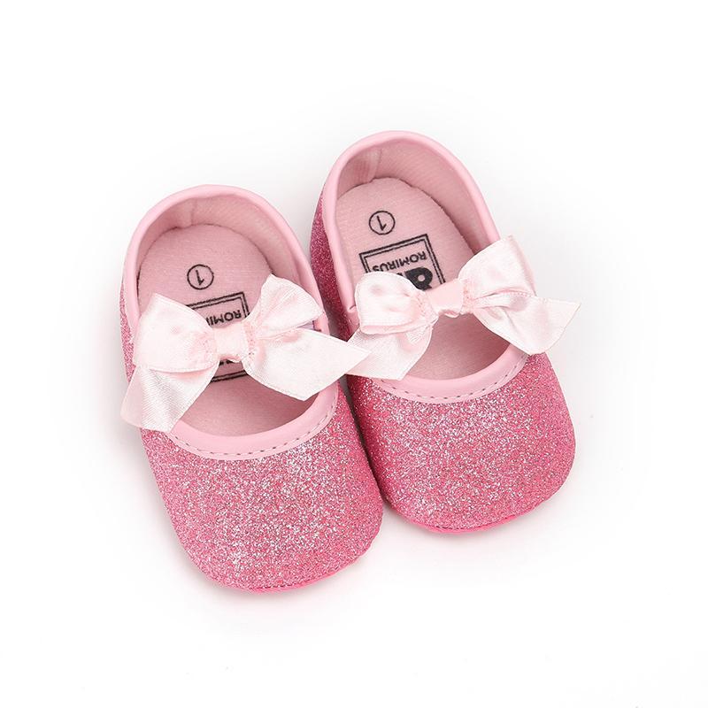 e7a77155fa54f Acheter Printemps Automne Nouveau Né Bébé Filles Enfant En Bas Âge Chaussures  D été Infantile Paillettes Princesse Ballet Chaussures Prom De  30.62 Du ...