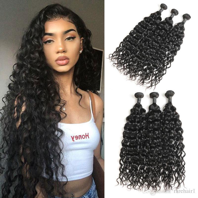 Rare Hair Malaysian Curly Hair Weave 3 Bundles Remy Human Hair