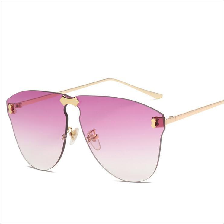 d7154f1643 Compre Gafas De Sol Cuadradas Para Mujer 2019 Diseñador De La Marca Sin Montura  De Gran Tamaño Gafas De Sol Gafas De Sol Con Montura De Metal Con Marco De  ...