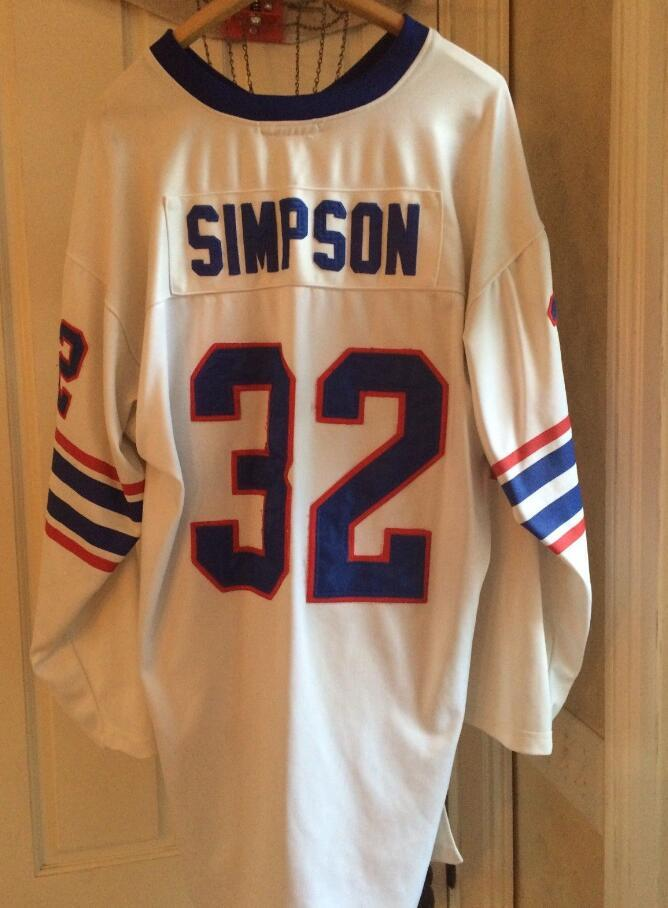 Cheap Retro 1969  32 OJ SIMPSON JERSEY Blue White Mens Stitching Long  Sleeves Football Jerseys Fat Man Big And Tall 4XL 5XL 6XL For Sale UK 2019  From ... af7b43091