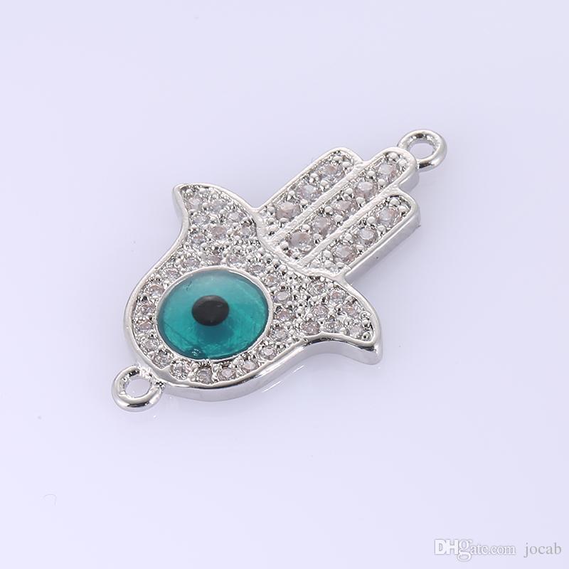 Wholesale Handmade DIY Jewelry Findings Accessories Necklace Pendant Charms Muslim Turkish Evil Eye Imam Hamsa Hand Fatima Bracelets Finding