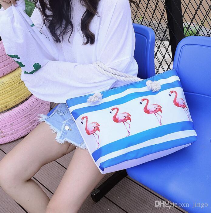 Women Beach Canvas Bag Set Fashion Casual Shoulder Bags Printing Shopping Handbags Ladies Large tote handbag
