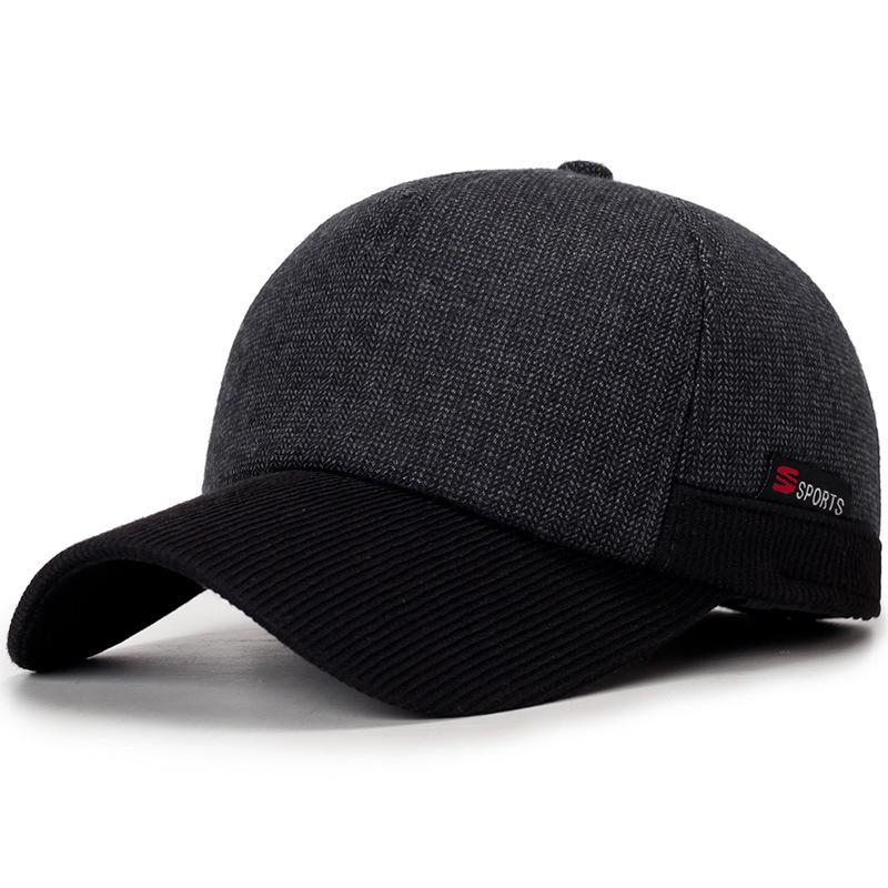 2018 Warm Winter Thickened Baseball Cap With Ears Men S Cotton Hat Snapback  Winter Hats Ear Flaps For Men Women Hat Wholesale Mens Hats Baseball Cap  From ... d5d137e0b33
