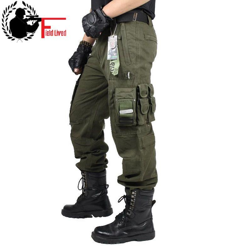 a0758e9b86 2019 CARGO PANTS Overalls Male Mens Army Clothing TACTICAL PANTS MILITARY  Work Wear Many Pocket Combat Army Style Straight Trousers From  Clothingsupreme, ...