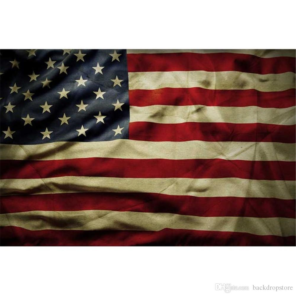 2018 horizontal american flag photography backdrops vintage digital
